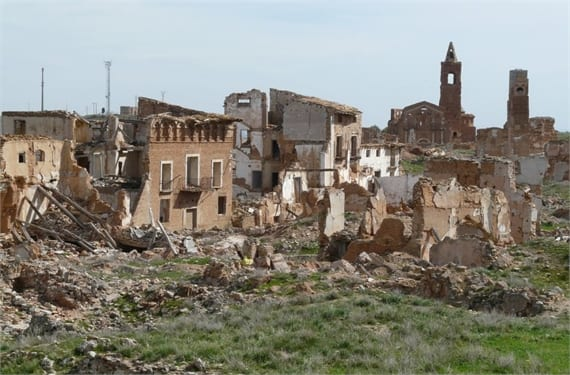 Belchite, el pueblo fantasma y la Guerra Civil