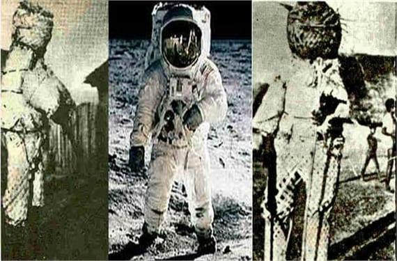 Resultat d'imatges de astronautas antiguos