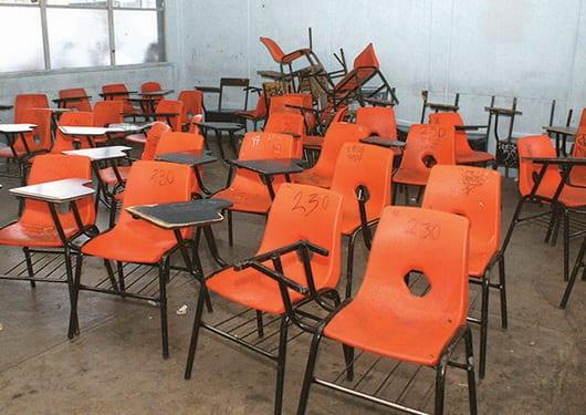 Alumnos sin clases en Oaxaca