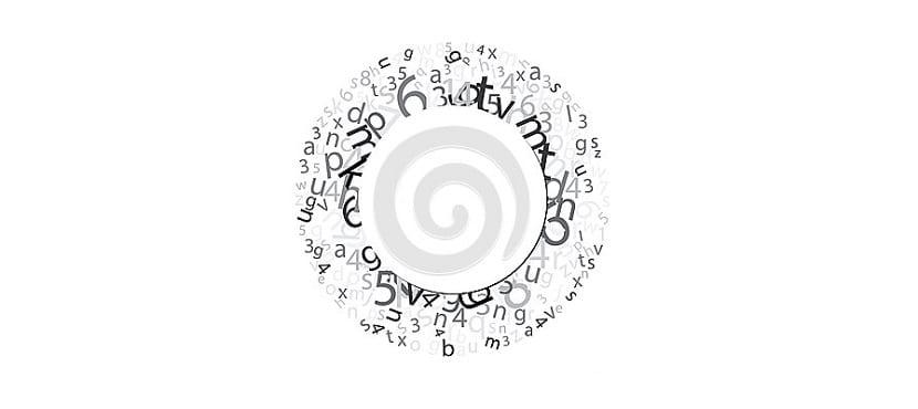Círculo con letras
